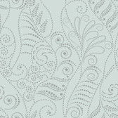 CP1270 Candice Olson Modern Fern Wallpaper - Silver on Blue Spa