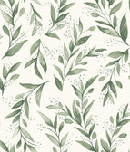 Magnolia Home ME1535 - Olive Branch Wallpaper Green