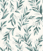 Magnolia Home ME1536 - Olive Branch Wallpaper Turquoise