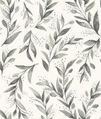 Magnolia Home ME1537 - Olive Branch Wallpaper Black