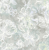 2793-24708 Allure Seafoam Floral Wallpaper
