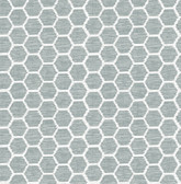 2793-24710 Aura Teal Honeycomb Wallpaper