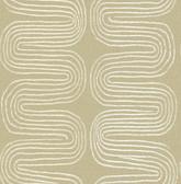 2793-24741 Zephyr Honey Abstract Stripe Wallpaper