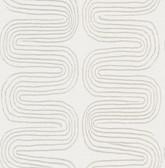 2793-24742 Zephyr Grey Abstract Stripe Wallpaper