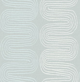 2793-24743 Zephyr Light Blue Abstract Stripe Wallpaper