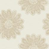 2793-24745 Sol Light Brown Medallion Wallpaper