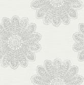 2793-24747 Sol Light Grey Medallion Wallpaper