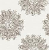 2793-24748 Sol Espresso Medallion Wallpaper
