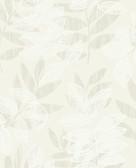 2793-87320 Chimera Champagne Flocked Leaf Wallpaper