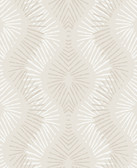 2793-87326 Feliz Platinum Beaded Ogee Wallpaper