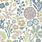 2782-1472 Malmo Green Fauna Wallpaper