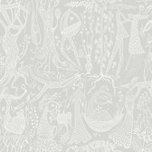 2782-1762 Lindberg Light Grey Folk Wallpaper