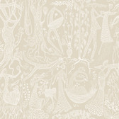 2782-1763 Lindberg Beige Folk Wallpaper