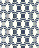 2782-24504 Honeycomb Navy Geometric Wallpaper