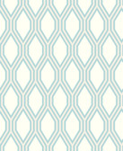 2782-24505 Honeycomb Light Blue Geometric Wallpaper