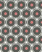 2782-24507 Buttercup Black Flower Wallpaper