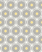 2782-24509 Buttercup Grey Flower Wallpaper