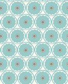 2782-24510 Buttercup Turquoise Flower Wallpaper