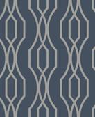 2782-24515 Coventry Blue Trellis Wallpaper