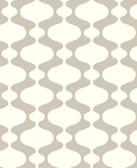 2782-24541 Emilio Taupe Retro Wallpaper