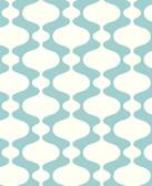 2782-24543 Emilio Turquoise Retro Wallpaper