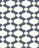 2782-24545 Emilio Navy Retro Wallpaper