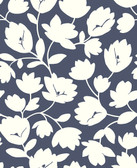 2782-24552 Matilda Navy Floral Wallpaper