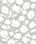 2782-24553 Matilda Grey Floral Wallpaper