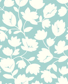2782-24555 Matilda Turquoise Floral Wallpaper