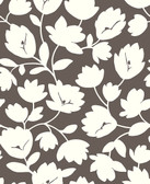 2782-24556 Matilda Chocolate Floral Wallpaper