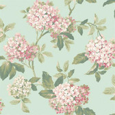 Botanical Fantasy AK7444Hydrangea Wallpaper