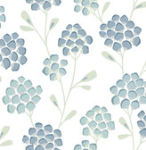 2785-24800 Aqua Scandi Flora Wallpaper