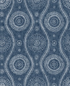 2785-24802 Indigo Painterly Wallpaper