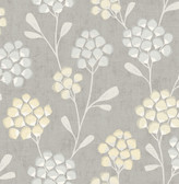2785-24863 Citrine Scandi Flora Wallpaper