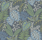 2785-87424 Indigo Jasmine Wallpaper