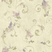 ART21605 Neutral Lilac Acanthus Wallpaper