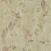 ART21606 Green Lilac Acanthus Wallpaper