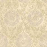 ART25021 Neutral Sofonisba Damask Wallpaper