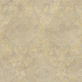 ART25023 Taupe Sofonisba Damask Wallpaper