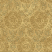ART25024 Gold Sofonisba Damask Wallpaper