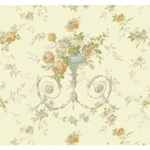 Botanical Fantasy AK7467Floral Urn Wallpaper