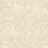 ART25092 Beige Venetian Damask Wallpaper