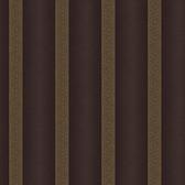 ART25113 Dark Brown Elisabetta Stripe Wallpaper