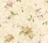 ART76302 Brown Hydrangea Trail Wallpaper