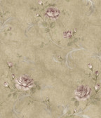 ARS26002 Gracie Sage Floral Scroll Wallpaper Wallpaper