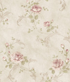 ARS26004 Gracie Stone Floral Scroll Wallpaper Wallpaper