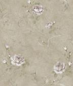 ARS26005 Gracie Metal Floral Scroll Wallpaper Wallpaper