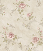 ARS26006 Gracie Grey Floral Scroll Wallpaper Wallpaper