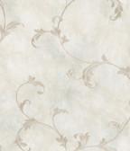 ARS26012 Gracie Blue Scroll Wallpaper Wallpaper