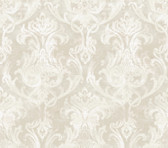 ARS26033 Elsa Silver Ornate Damask Wallpaper Wallpaper